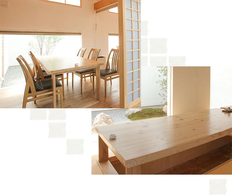 胡丹、テーブルと座敷席